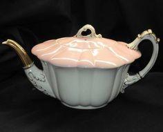 Shelley England Wileman The Foley China Empire Dual Color Frilly Tea Pot Teapot   eBay