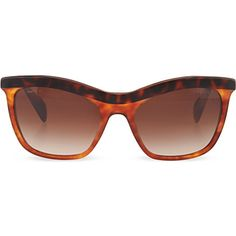 d14f8ef0d653 PRADA - Havana cat eye sunglasses