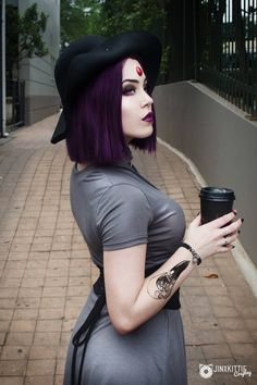 "steam-and-pleasure: ""Casual Raven from Teen Titans Cosplayer: JinxKittie Cosplay "" Dc Cosplay, Cosplay Anime, Cosplay Raven, Cosplay Teen Titans, Jinx Teen Titans, Casual Cosplay, Cosplay Outfits, Best Cosplay, Cosplay Girls"