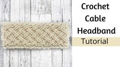 Crochet Headband- Crochet Cables- How to Crochet a Headband- How to Croc... Knitting Yarn Diy, Beginner Knitting Patterns, Knitting For Beginners, Crochet Scarves, Crochet Patterns, Crochet Hats, Crochet Cable, Love Crochet, Easy Crochet