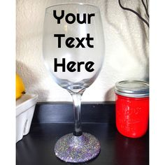 Customized Geaux Wild (Mardi Gras) Glittered Wine Glass #Mardi-Gras