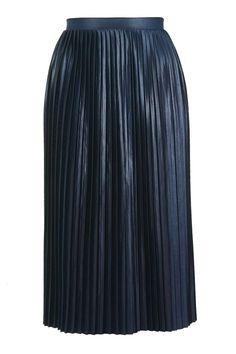 Jersey Pleat Midi Skirt