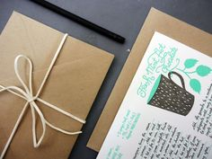 Holiday Recipe Card Set of Four by KarolinSchnoor on Etsy