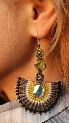 Hey, I found this really awesome Etsy listing at https://www.etsy.com/ie/listing/275792098/handmade-earnings-macrame-style-with
