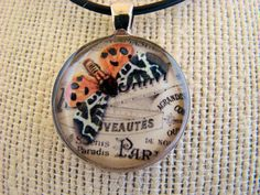 Resin Pendant Butterfly Orange White Black by BytheGulfCreations, $17.00