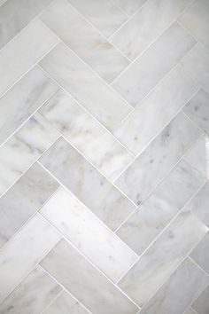 awesome Idée décoration Salle de bain - Try This: Herringbone Marble Tile (A Beautiful Mess)
