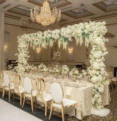 Flower Decorations, Wedding Decorations, Table Decorations, Wedding Ideas, All White Wedding, Elegant Wedding, Tablescapes, Centerpieces, Reception
