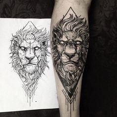Tatoo Leão:                                                                                                                                                      Mais