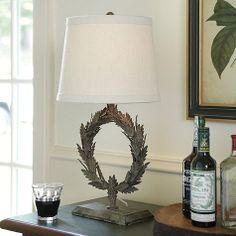 Laurel Wreath Accent Lamp; $200; ballard design