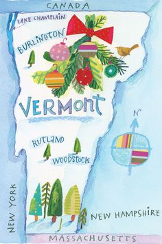 Vermont Map  - CountryLiving.com