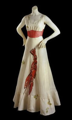 """The famed """"lobster"""" dress made in collaboration with Salvador Dali"""