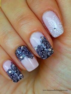 Sisters Nails: KORONKA- NAKLEJKI OD EDbeauty
