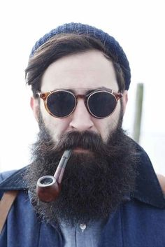 Gafas de sol redondas - Round sunglasses - Man with beard - Hombre con barba - Man sunglasses - Street style