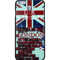 """Amazon.com: [ Apple iPhone 6 Plus 5.5"""" Case ] UK British National Flag... ($9.99) ❤ liked on Polyvore featuring accessories and tech accessories"""