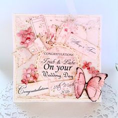 MicheleRDesign: Wedding Card - Shabby Pink Charms Collection