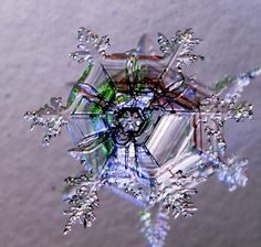 Iridescent Snowflake . . . Probably more like a Microscopic Shot