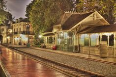 Disneyland Railroad, New Orleans Square Train Station. How guests will leave the wedding. Disneyland World, Disneyland Today, Vintage Disneyland, Disneyland Resort, Disney Love, Disney Magic, Disney Parks, Walt Disney World, Disney Animation