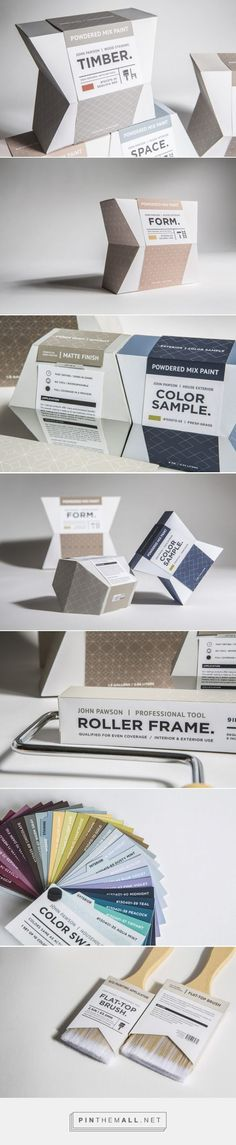 Sustainable Powdered Paint student concept packaging designed by Saerona Shin -