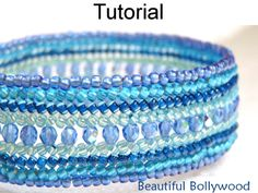 Beautiful Bollywood Herringbone Bracelet PDF Beading Pattern | Simple Bead Patterns