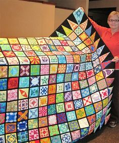More fun with Jane:  Judy's batik Dear Jane quilt.  Photo by Aunt Reen :January 2015
