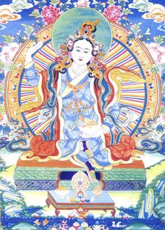 Image of Yeshe Tsogyal, the female Buddha of Tibet. This is a Longchen Nyinthig image of her.