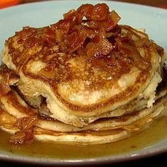 [4.21.12] Bacon Pancakes with Maple Bourbon Butter Sauce