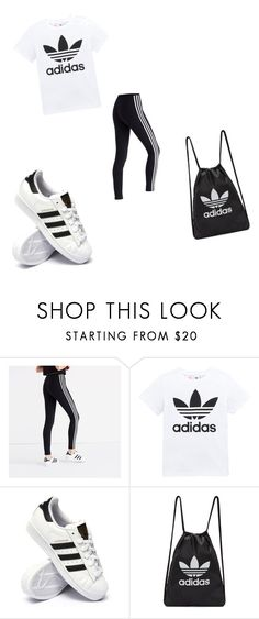 """Untitled #12"" by adelisa123d123 ❤ liked on Polyvore featuring Madewell, adidas Originals and adidas"