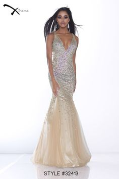 Xtreme Prom 2014 Collection style #32413 #prom #dress #gold