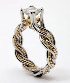 Sold OOAK 1 carat Princess Cut Canadian by DanielSommerfeld