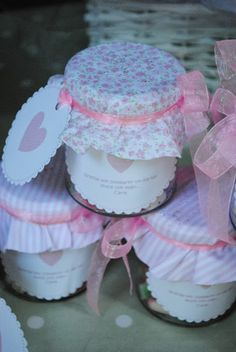 LOS DETALLES DE BEA Baby Shawer, My Baby Girl, Baby Party, Baby Shower Parties, Baby Food Jar Crafts, First Tooth, Ideas Para Fiestas, Decorated Jars, Candy Table