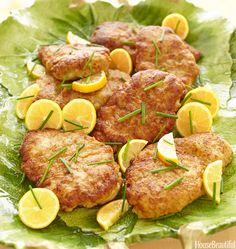 Parmesan-Crusted Chicken with Lemon Butter