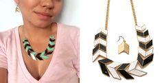 Chevron Necklace & Earring Set | Jane