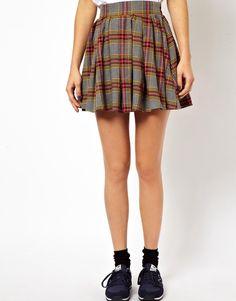 #asos                     #Skirt                    #ASOS #Skater #Skirt #Brushed #Plaid #Check         ASOS Skater Skirt in Brushed Plaid Check                                      http://www.seapai.com/product.aspx?PID=1387834