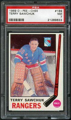 1969 70 O Pee Chee 189 Terry Sawchuk PSA 7 OPC Hockey New York Rangers | eBay