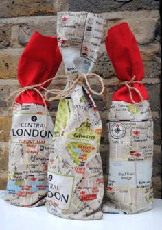 Olympic viewing party favors- wine sacks