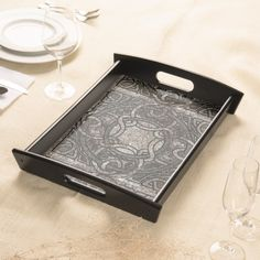 Stone Texture Celtic Knot Pattern Serving Tray