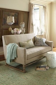 Cluny Abbey Sofa - Linen Upholstered Sofa, Oak Sofa | Soft Surroundings