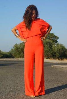 orange jumpsuit #UNIQUE_WOMENS_FASHION