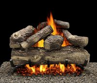 LTH718-BMHK18N Tree House 7 Refractory Log Set, 18-inch, 7-piece with Metro Single Burner, 18-inch, Match Light, 74,000 Btu - Natural Gas
