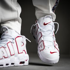 Make yourself ready for a White/Varsity Red-White version of the famous NIKE AIR MORE UPTEMPO '96. Soon available on kickz.com!