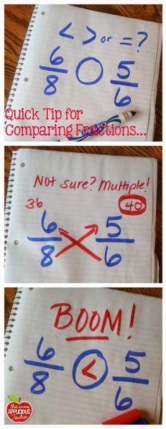 Love this genius tip for comparing fractions. – Novel Guide Love this genius tip for comparing fractions. Love this genius tip for comparing fractions. Math For Kids, Fun Math, Math Games, Math Activities, Fraction Activities, Math Math, Teaching Math, Math Teacher, Comparing Fractions