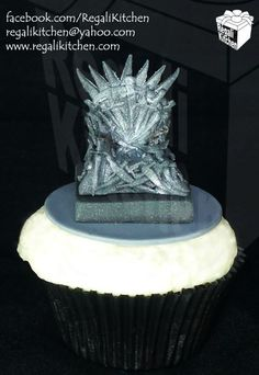 Game of Thrones Cupcake   Iron Throne Cupcake   by The Regali Kitchen