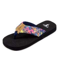 a3768eaf0c5148 Love this Navy  amp  Pink Abstract Sister Flip-Flop by Corky s Footwear on