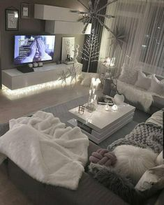 Decor Home Living Room, Living Room Grey, Living Room Designs, Living Room Goals, Grey Room, Cozy Living Rooms, Home Decor, First Apartment Decorating, Dream House Interior