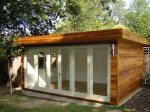 5m by 3.8m western red cedar finished garden building