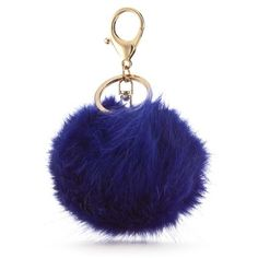 New Directions Blue Large Blue Puff Keychain ($9) ❤ liked on Polyvore featuring accessories, blue and key fob chain