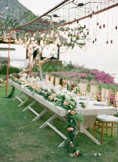 View entire slideshow: Floral Garland Favorites on http://www.stylemepretty.com/collection/1968/
