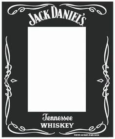 Printed Mirrored Photo Frame Jack Daniel's (Edge)