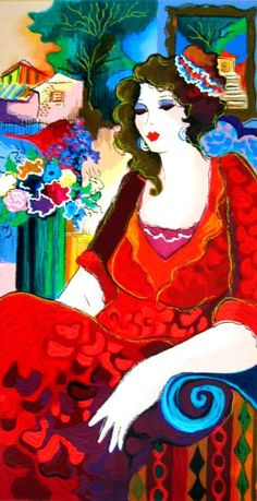 Lady In Red..Patricia Govezensky