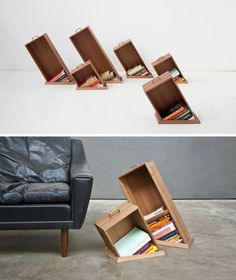 Optical Illusion Bookshelves